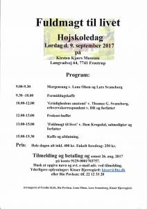 Højskoledag ved Lone Olsen @ Kirsten Kjærs Museum | Frøstrup | Danmark